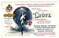 POSTCARD ITALIAN ADVERTISING LHOTE ELECTRICAL INSTRUMENTS AND TELEPHONE