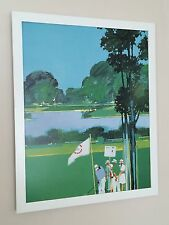 "GOLF II - 1985, Mike Vaughan-telaio 20"" x16"" - POSTER GOLF, GOLF POSTER"