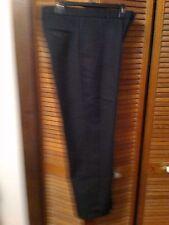 Mens Dockers Premium D3 Flat Front Classic Fit Black Pants W 34 x L 29 Pinstripe