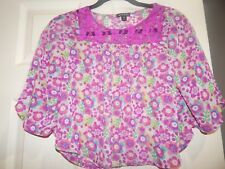 Little Girls Semi-Sheer by Juniors Top Blouse by GEORGE Size M 7/8