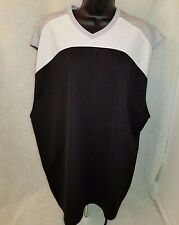Jerzees Mens Black/Gray/White Basketball Style Shirt Size XL OR XXL