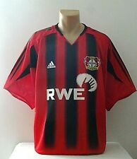 Bayer 04 Leverkusen Trikot Gr. XL Adidas Rot / Schwarz