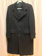 Mens Black Tweed Wool Dress Coat Vaughns Endicott No Damage Ready To Wear