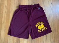 Minnesota Golden Gophers Vintage Russell Athletic Training Shorts Size M EUC