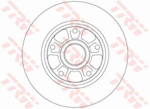 2 x TRW DF6182 Bremsscheibe
