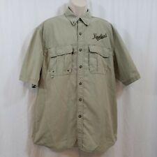 Leinenkugel's Brewing Co Mens Large Short Sleeve Button Up Vented Dri-Duck Shirt