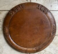 Vintage / Antique English Bread Board Carved Wood cutting board