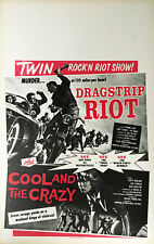 DRAGSTRIP RIOT / COOL AND THE CRAZY Combo Benton window card
