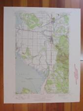 Mount Vernon Washington 1957 Original Vintage USGS Topo Map