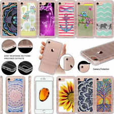 """For Apple iPhone 8 (4.7"""") Flexible Shockproof Clear TPU Case Stylish Designs"""