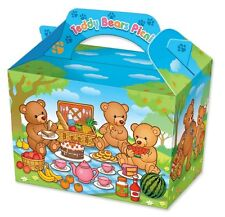 6 Teddybären Garten Picnic Party Geburtstag Boxen Kinder Essen Mehl Bodenplatte