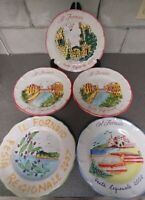 SET Five(5) IL FORNAIO Festa Regionale Plates Italy 2007 2008 2009 Hand Painted