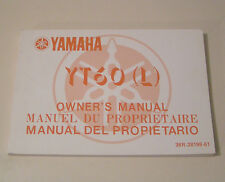 Owner's Manual Yamaha YT 60 (L) - Edition 1983 !