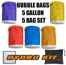 Hydroponic Hash Bubble Ice Bags 5 gallon 5 bag & Carry Bag Mesh Press