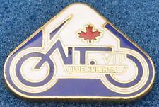 Blue Knights Lapel Vest Pin Ontario Canada VII Law Enforcement Motorcycle Police