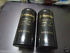 2x NEW KENDEIL 10000UF 100V K01 CAPS KSA50 NAIM HICAP LEACH AMP !63v replacement