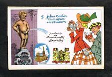 Bruxelles - Manneken-Pis - Ancienne Pochette de 5 CP humoristiques.