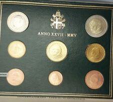 VAX2005.1 - COFFRET BU VATICAN - 2005 - 1 cent à 2 euros