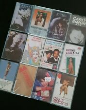 Cassette Tapes 12 Mixed Music Female artists 80's Inc Carry Storage Case