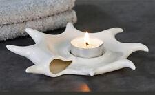Teelichthalter Muschel Spa Bad Deko Leuchter weiß Casablanca 16,5 cm Porzellan