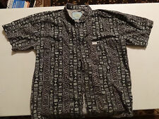 Vintage PCH (Pacific Coast Highway) S/S Large Dress Shirt Multi Colored