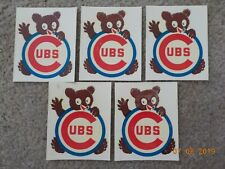 (5) 1960's/70's CHICAGO CUBS Team Issued Stickers - Unused