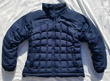 Columbia Down Jacket Women's Large Navy Blue Puffy Puffer Winter Coat Used