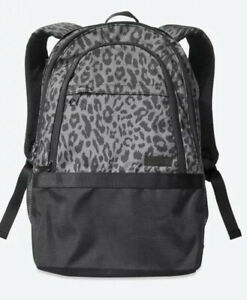 Victoria Secret Pink Collegiate Stormy Grey Leopard Backpack - NWT