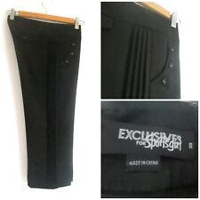Womens Sportsgirl Exclusives sz 8 Black Blend Wool Crop Pants (HU)