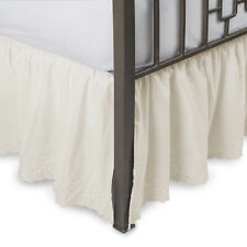 Eyelet Ruffled Bedskirt with Split Corners Multiple Colors and Sizes