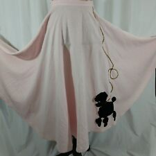 True Vintage Poodle Skirt 26 Inch Waist Pale Pink Black Poodle Talon Zipper