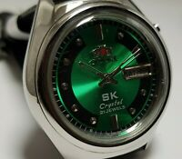 SPRCKL-TEAL-DIAL-SK-ROUND-CASE ORIENT AUTOMATIC &DAY DATE CLASSIC MEN'S WATCH