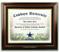 DALLAS COWBOYS NFL Football Fan Certificate / Diploma Man Cave GIFT Christmas