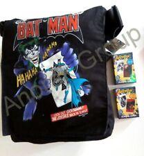 DC Comics BATMAN the JOKER Shoulder Bag +2 Dark Knight Playing Cards Decks #1 #2