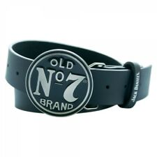 JACK DANIEL'S Classic Old No.7 Circular Black Belt Buckle, Large Leather Belt