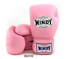 WINDY BOXING GLOVES  BGVH LIGHT PINK 8,10,12,14,16 oz.SPARRING MUAY THAI MMA K1