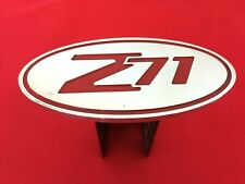 """GM Chevy Z71 CHROME w/ RED Oval 2"""" Billet Hitch RECEIVER Cover Truck PICK-UP GMC"""