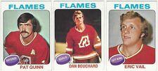 8 1975-76 TOPPS HOCKEY ATLANTA FLAMES CARDS (QUINN/BOUCHARD+++)