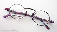 No Limits kreisrunde Brillen Fassung Nickelbrille rund schwarz bunt Grösse L