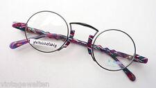 No Limits kreisrunde Brillenfassung Nickelbrille rund Metall schwarz bunt sizeL