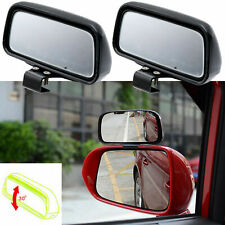 2x Rectangle Adjustable Wide Angle Rearview Blind Spot Add-On Mirrors