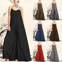Women Evening Party Clubwear Maxi Dress Sleeveless Loose Prom Long Sundress Plus