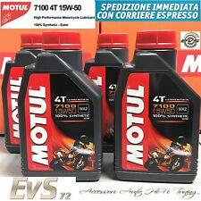 4 Litri Motul 7100 4T 15W50 MA2 Olio Motore Moto e Scooter 100% Sintetico ESTERE