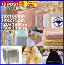SEQUIN TABLE RUNNER WEDDING PARTY BLING DECORATION GOLD SILVER