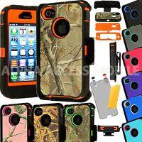 For Apple iPhone 4 4S Shockproof Case Cover (Fits Otterbox Defender Belt Clip)
