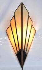 Art Deco Sconces - wall lights 1930's style (Cream & Brass)