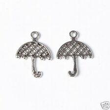 10 Tibetan Silver Umbrella Pendant Charms