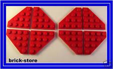 LEGO rouge 4x4 diagonale plaques obliquement / 8 pièces