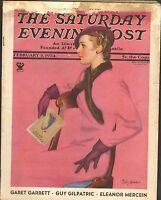 FEB 3 1934 SATURDAY EVENING POST vintage magazine PRETTY LADY - FADEWAY
