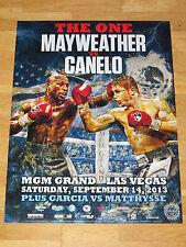 Floyd Mayweather Vs. Canelo AlVarez Fight Poster 3 The One 2013 Las Vegas